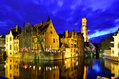 Cartão de Bruges Fotografia de Stock Royalty Free