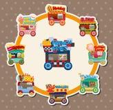 Cartão de carro da loja do mercado dos desenhos animados Imagens de Stock