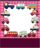 Cartão de carro dos desenhos animados Imagens de Stock