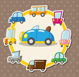 Cartão de carro dos desenhos animados Fotos de Stock Royalty Free