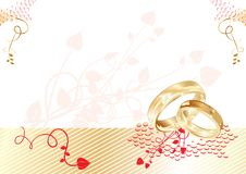 Cartão de casamento Imagens de Stock Royalty Free