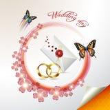 Cartão de casamento Fotos de Stock Royalty Free