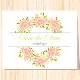 Cartão de casamento Imagem de Stock Royalty Free