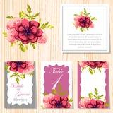 Cartão de casamento Imagens de Stock