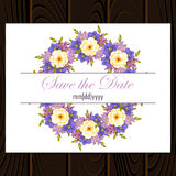 Cartão de casamento Fotografia de Stock Royalty Free