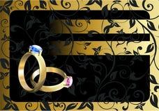 Cartão de casamento ilustração stock