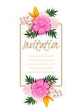 Cartão de casamento Fotografia de Stock