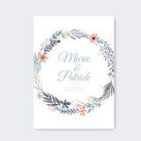 Cartão de casamento Imagem de Stock
