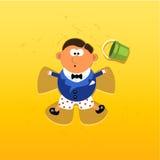 Cartão de casamento 01 ilustração royalty free