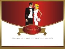 Cartão de casamento bonito da elegância Foto de Stock