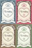 Cartão de casamento com lugar para seu texto no vintage s Imagens de Stock