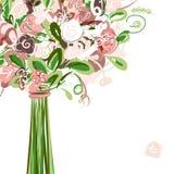 Cartão de casamento com o ramalhete floral para seu projeto ilustração royalty free