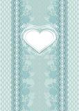 Cartão de casamento com quadro do coração Fotografia de Stock Royalty Free