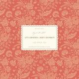 Cartão de casamento coral Imagem de Stock Royalty Free