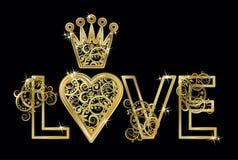 Cartão de casamento do amor, vetor Imagens de Stock Royalty Free