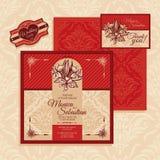 Cartão de casamento floral Fotos de Stock