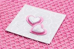 Cartão de casamento handmade luxuoso fotos de stock