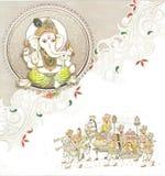 Cartão de casamento indiano Fotografia de Stock Royalty Free
