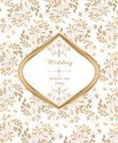 Cartão de casamento no estilo do vintage Fotos de Stock Royalty Free