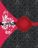 Cartão de casamento vermelho e preto Fotos de Stock Royalty Free