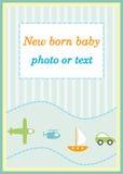 Cartão de chegada do anúncio do bebé Fotografia de Stock Royalty Free