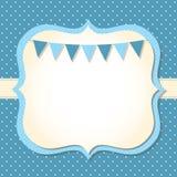 Cartão de chegada do bebé Fotos de Stock Royalty Free