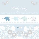 Cartão de chegada do bebê Imagem de Stock
