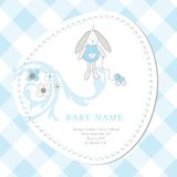 Cartão de chegada do bebê Fotografia de Stock Royalty Free