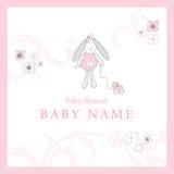 Cartão de chegada do bebê Foto de Stock
