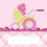Cartão de chegada do bebê Imagens de Stock