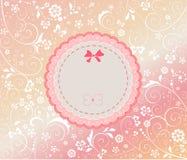 Cartão de chegada do bebê Fotos de Stock