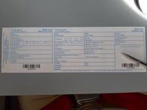 Cartão de chegada vazio a Tailândia imagens de stock royalty free