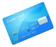 Cartão de crédito azul Fotografia de Stock Royalty Free