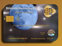 Cartão de crédito de Bitcoin Fotos de Stock