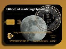 Cartão de crédito de Bitcoin Foto de Stock Royalty Free