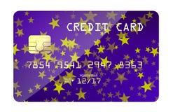 Cartão de crédito com estrelas Foto de Stock Royalty Free