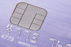 Cartão de crédito com micro microplaqueta Foto de Stock Royalty Free
