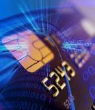 Cartão de crédito com microplaqueta segura Fotos de Stock Royalty Free