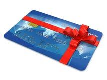 Cartão de crédito como o presente Imagem de Stock