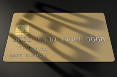 Cartão de crédito da sombra do débito Fotos de Stock Royalty Free