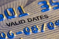 Cartão de crédito. Detalhe Foto de Stock