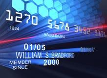 Cartão de crédito do laser Foto de Stock