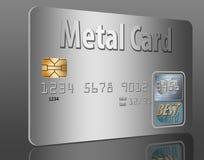 Cartão de crédito do metal ilustração do vetor
