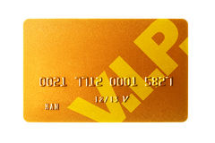 Cartão de crédito do ouro fotografia de stock