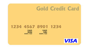 Cartão de crédito do ouro ilustração royalty free