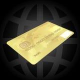 Cartão de crédito do ouro Imagem de Stock
