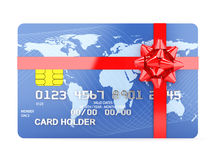 Cartão de crédito do presente ilustração royalty free