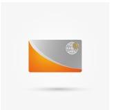 Cartão de crédito do vetor isolado Fotografia de Stock
