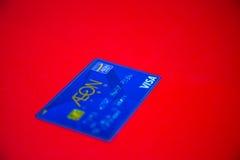 Cartão de crédito do visto Imagem de Stock Royalty Free
