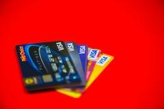 Cartão de crédito do visto Foto de Stock